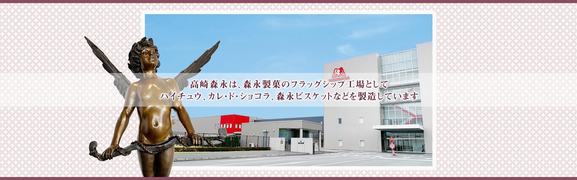 高崎森永は森永製菓のフラッグシップ工場としてハイチュウ、カレ・ド・ショコラ、森永ビスケットなどを製造しています。
